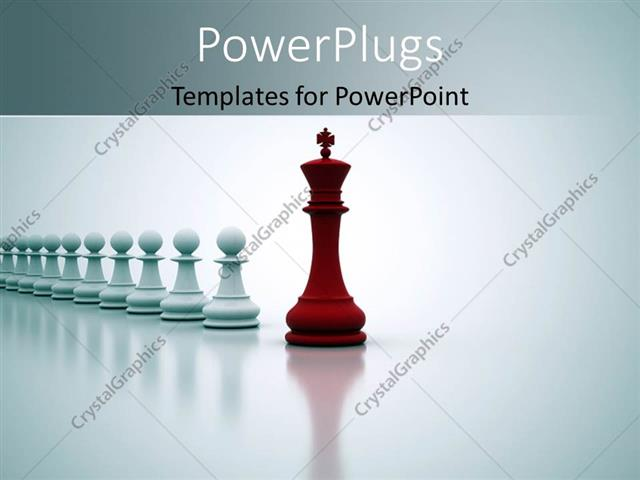 Powerpoint template red chess king leading straight line of white powerpoint template displaying red chess king leading straight line of white pawns toneelgroepblik Images
