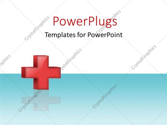 Powerpoint template red cross with reflection on white and blue powerpoint template displaying red cross with reflection on white and blue surface toneelgroepblik Images