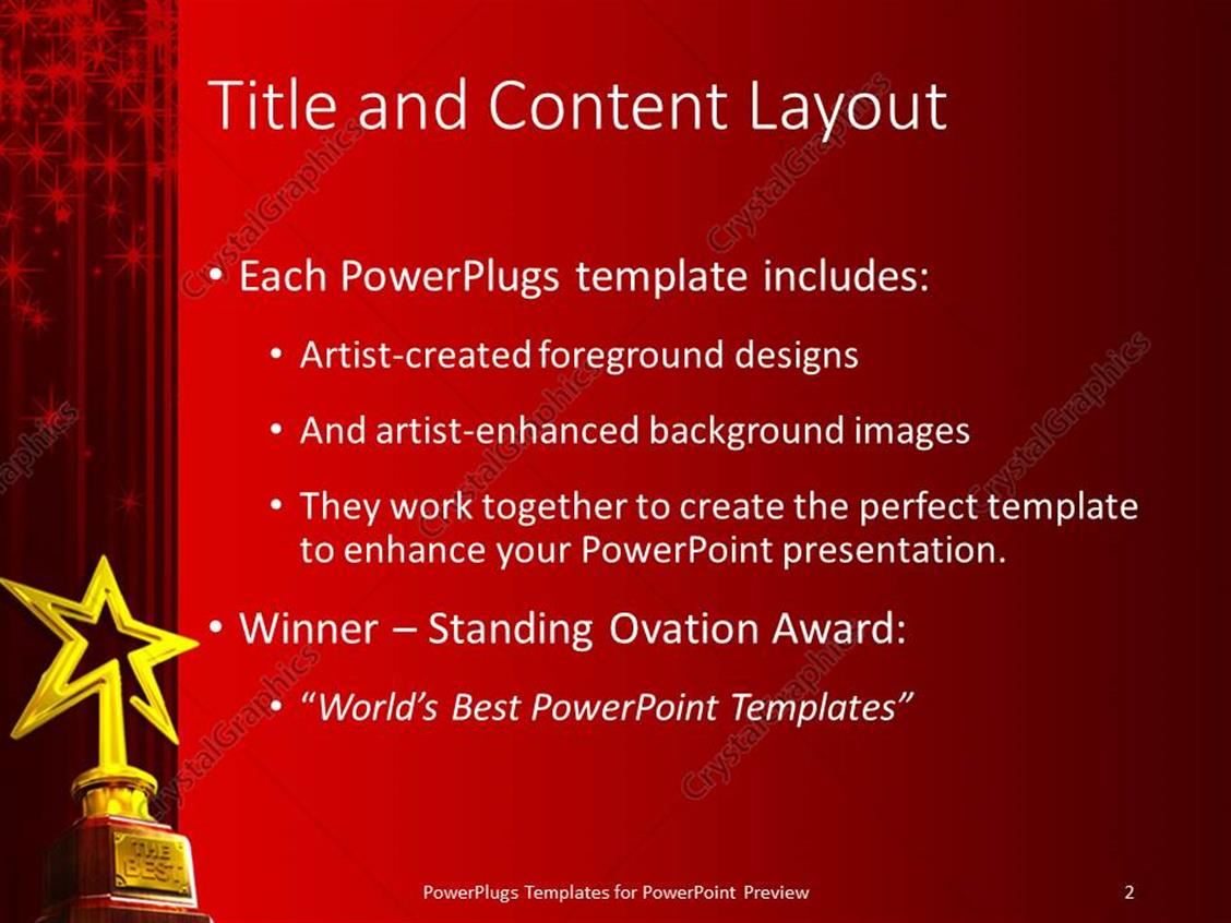 Charming award template powerpoint photos example resume and powerpoint template red glowing curtain background with gold star alramifo Images