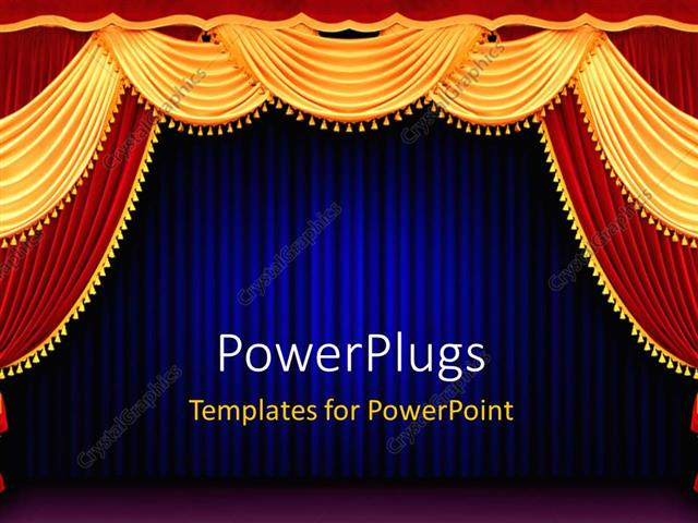 powerpoint curtains