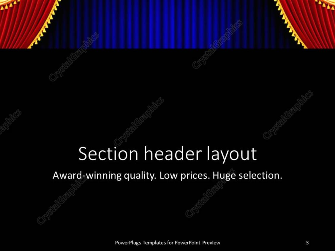 Powerpoint template red and gold theater curtain tied back in powerpoint products templates secure standing ovation award pronofoot35fo Images