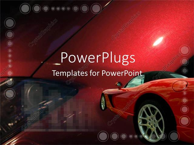 Powerpoint template red luxury car on colorful red background 8636 powerpoint template displaying red luxury car on colorful red background toneelgroepblik Images