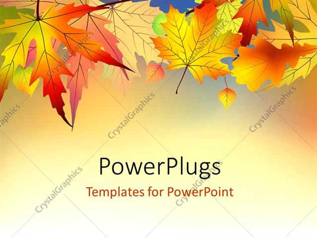 Powerpoint template red and orange autumn leaves on light powerpoint template displaying red and orange autumn leaves on light background toneelgroepblik Gallery