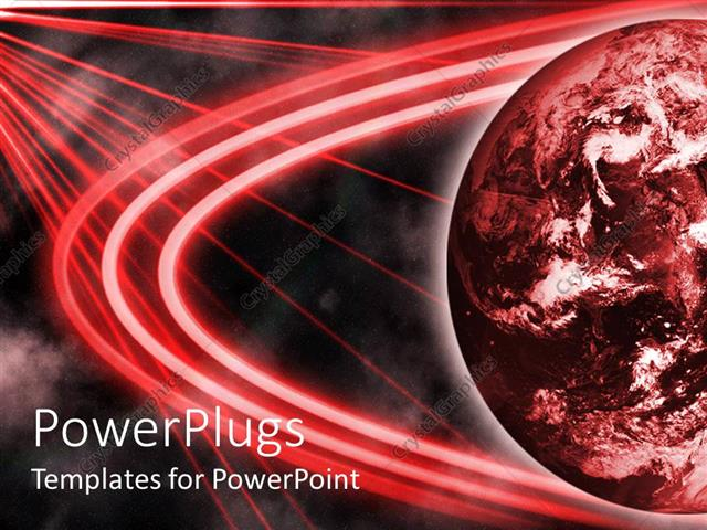 Powerpoint template red planet with red laser looking lights over powerpoint template displaying red planet with red laser looking lights over it and black background toneelgroepblik Image collections