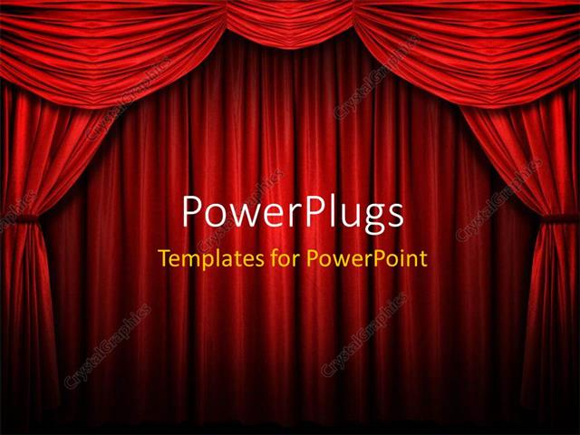 Powerpoint template red stage curtain with arch entrance with powerpoint template displaying red stage curtain with arch entrance with selective lights and shadows toneelgroepblik Choice Image