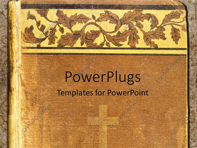 Powerpoint Template Religious Book Cover With Cross And