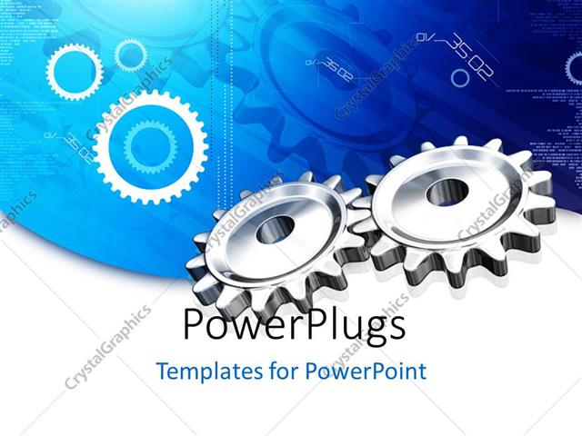 Powerpoint template render gear on blue digital background 19810 powerpoint template displaying render gear on blue digital background toneelgroepblik Images