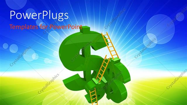PowerPoint Template Displaying a Number of Dollar Signs with Ladders