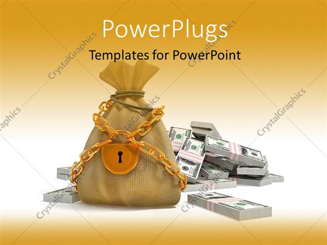 Powerpoint template the representation of a bag of money locked 20653 powerpoint template displaying the representation of a bag of money locked toneelgroepblik Choice Image