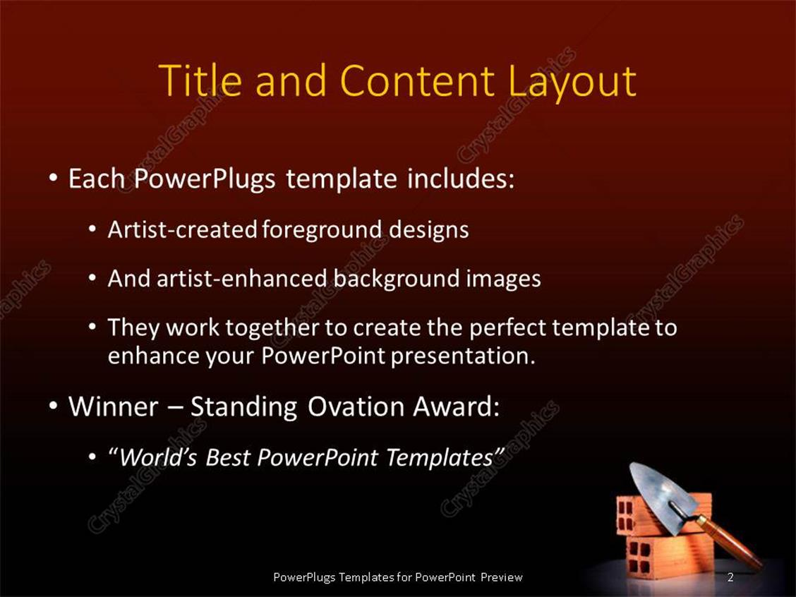 Powerpoint template a representation of construction with brown powerpoint products templates secure alramifo Images