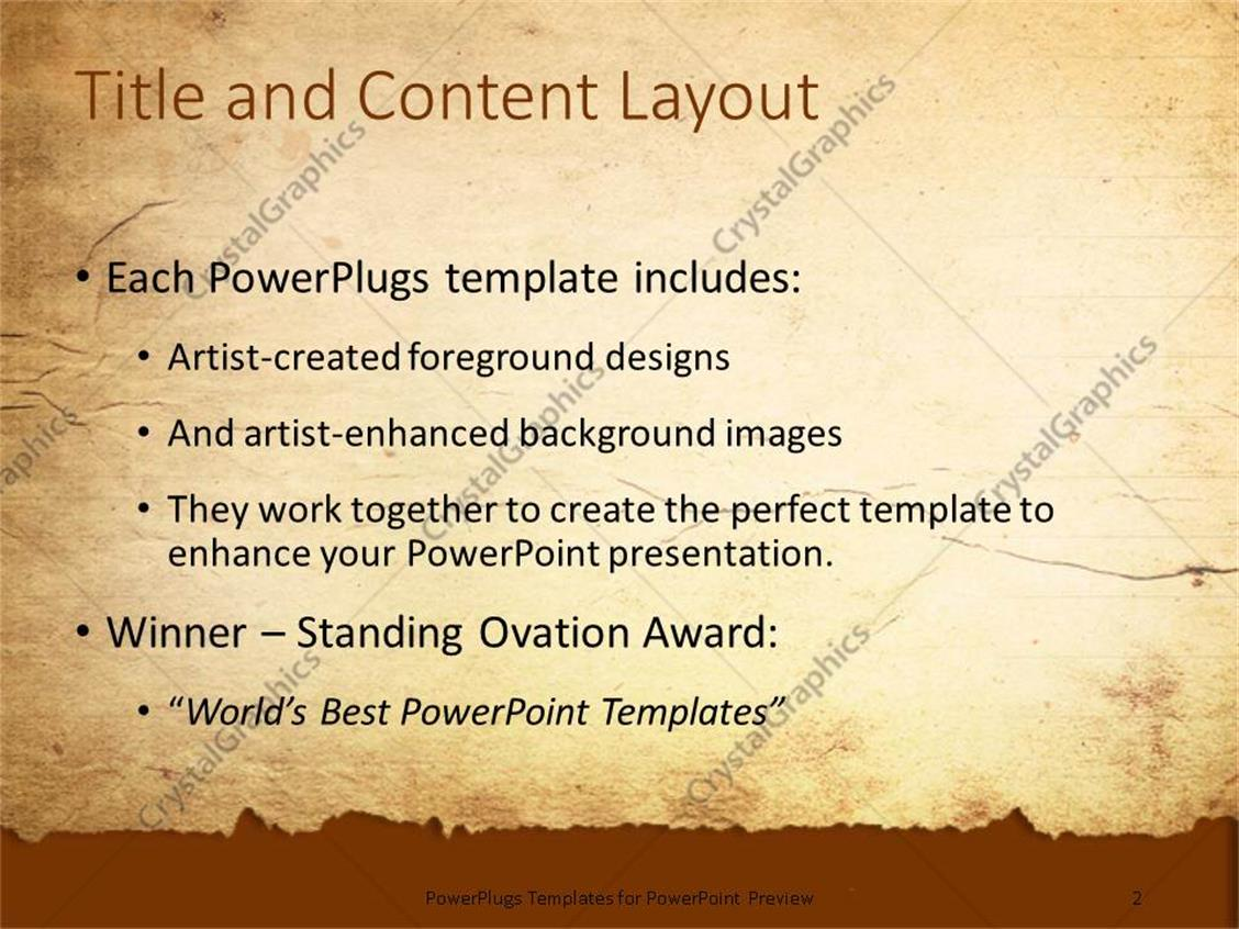 Powerpoint template a representation of old paper with place for powerpoint products templates secure toneelgroepblik Images