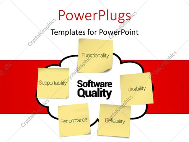 Powerpoint Template Representing Software Quality Attributes