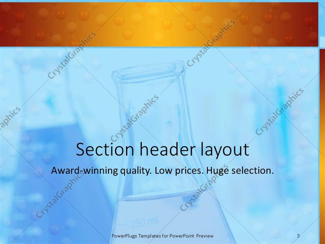 Powerpoint template research laboratory with beakers and flasks powerpoint products templates secure toneelgroepblik Gallery