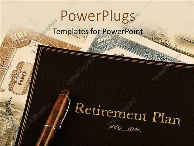 Powerpoint template retirement plan portfolio on top of vintage powerpoint template displaying retirement plan portfolio on top of vintage stock certificates toneelgroepblik Image collections