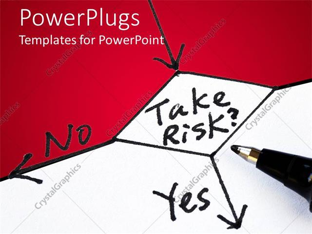 PowerPoint Template: risk management concept with flow chart