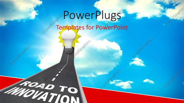 Powerpoint template road to innovation leading upward to a light powerpoint template displaying road to innovation leading upward to a light bulb representing toneelgroepblik Gallery