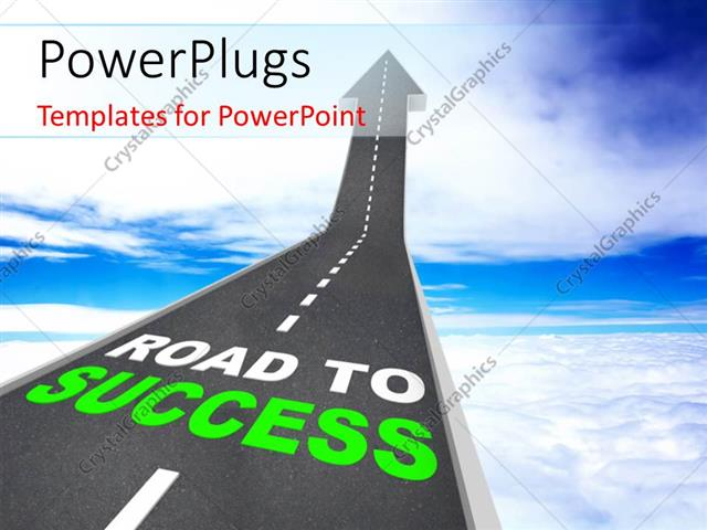 Powerpoint template road to success words on arrow going up 25350 powerpoint template displaying road to success words on arrow going up maxwellsz