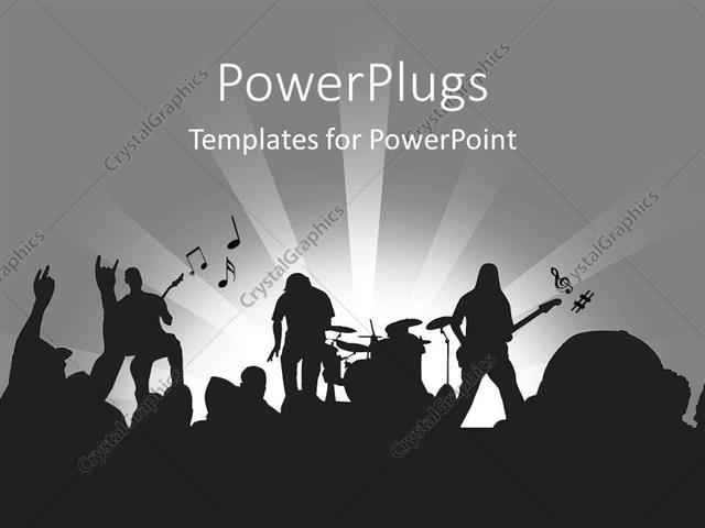 Powerpoint template rock band playing on stage in concert 20912 powerpoint template displaying rock band playing on stage in concert toneelgroepblik Gallery