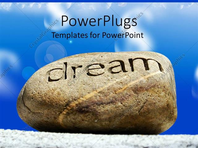 Powerpoint template rock with word dream inscribed with blue cloudy powerpoint template displaying rock with word dream inscribed with blue cloudy sky toneelgroepblik Image collections
