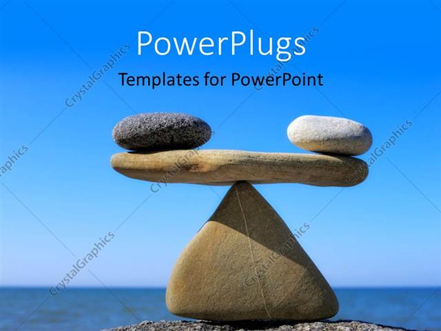 Powerpoint template rocks balanced in scales arrangement on beach powerpoint template displaying rocks balanced in scales arrangement on beach toneelgroepblik Choice Image