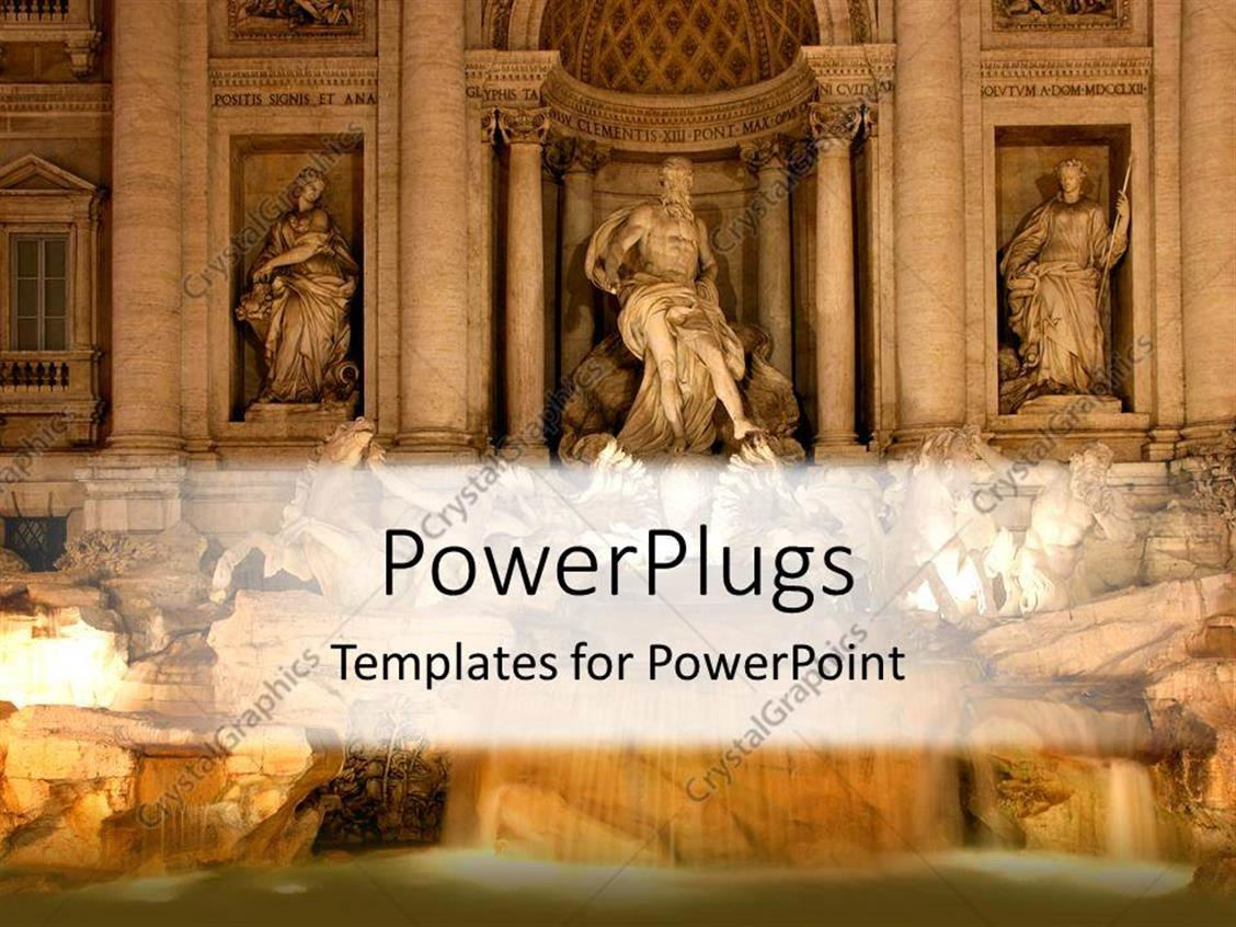 Powerpoint Template Roman Statues Depicting Historical And
