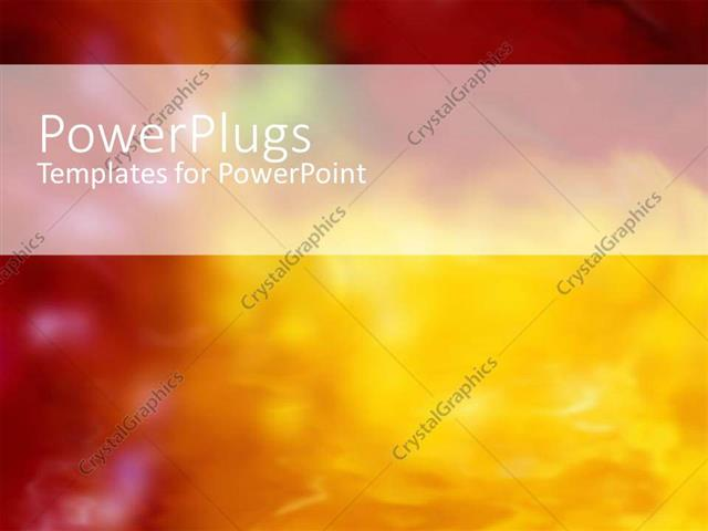 Powerpoint Template Romantic Depiction With Warm Red And Yellow