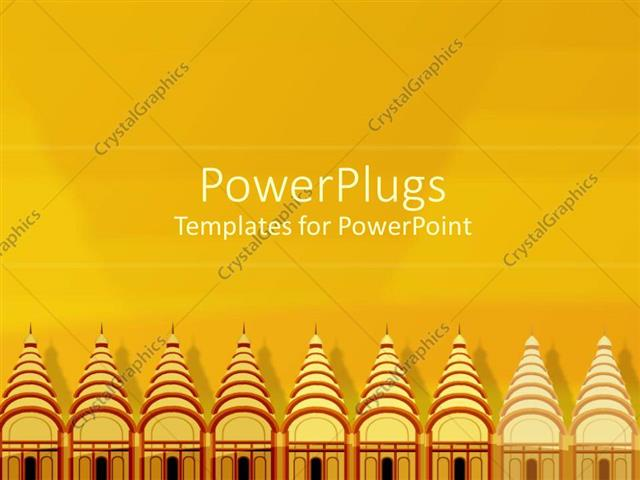 Powerpoint Template Rows Of Temples Religious Architecture