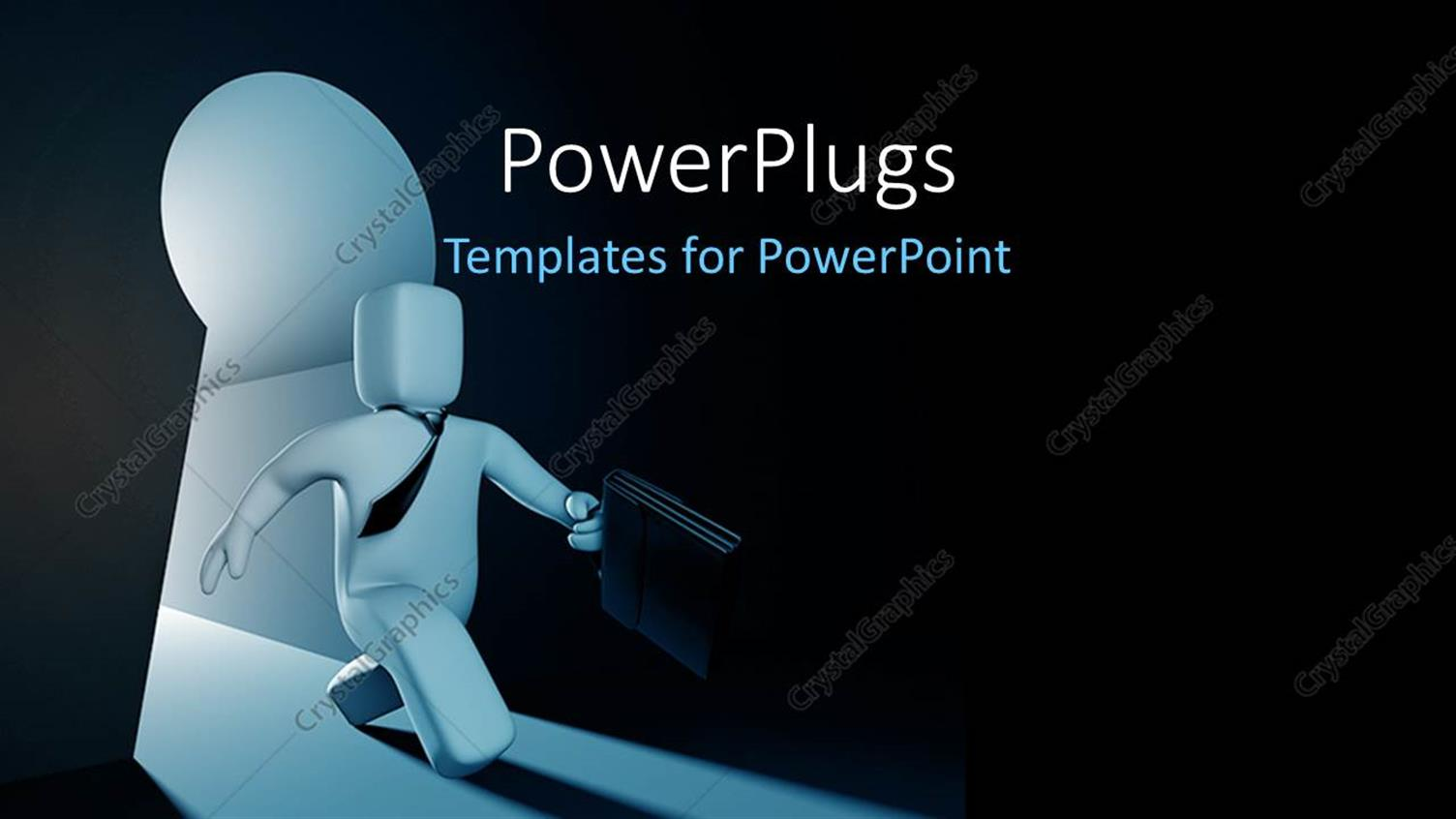 PowerPoint Template Displaying a Person with Darkness in the Background