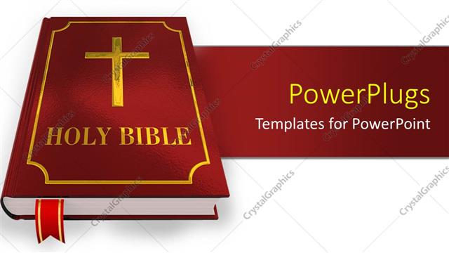 Powerpoint template a large red colored holy bible over a white powerpoint template displaying a large red colored holy bible over a white surface toneelgroepblik Images