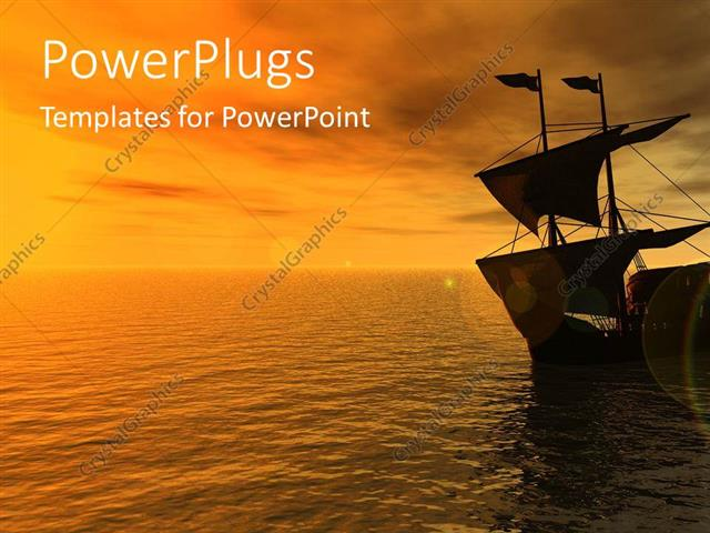 Powerpoint template sailing ship on sea in the sunset boat ship powerpoint template displaying sailing ship on sea in the sunset boat ship water toneelgroepblik Image collections