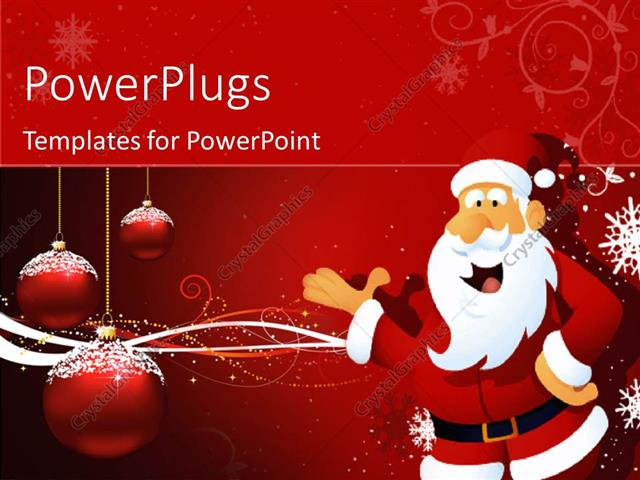 Powerpoint Template Santa Claus In Christmas Concept With