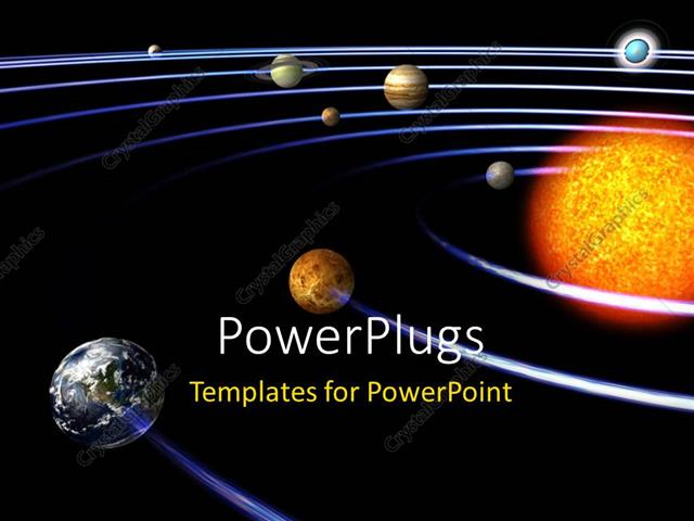 Powerpoint template schematic depiction of the solar system with powerpoint template displaying schematic depiction of the solar system with all the planets toneelgroepblik Image collections