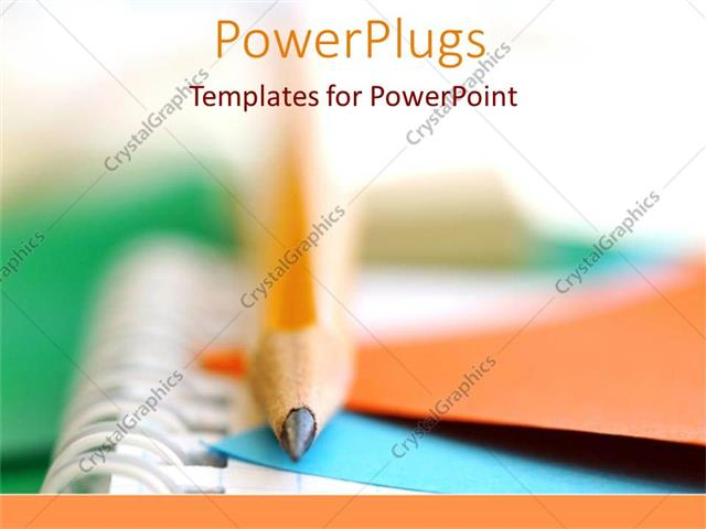 Powerpoint template school and college writing pencils and powerpoint template displaying school and college writing pencils and multicolored paper as a metaphor on toneelgroepblik Choice Image