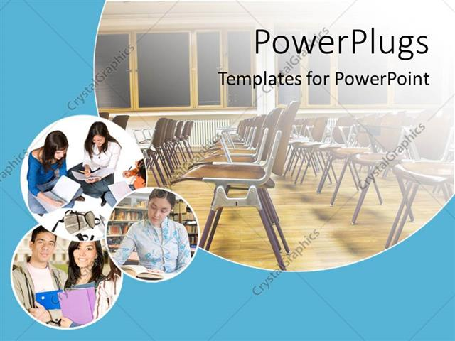 Powerpoint Template School And Education Theme With Classroom With