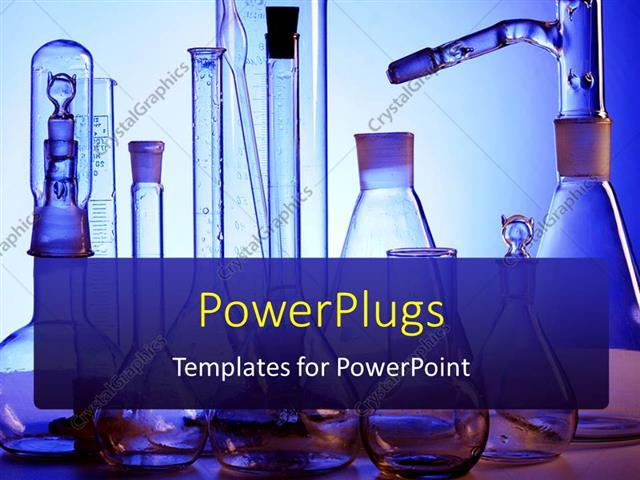 PowerPoint Template: science laboratory with medical science ...