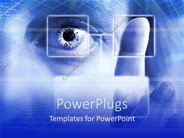 Powerpoint template security theme with fingerprint scan and eye powerpoint template displaying security theme with fingerprint scan and eye scan on blue security toneelgroepblik Images