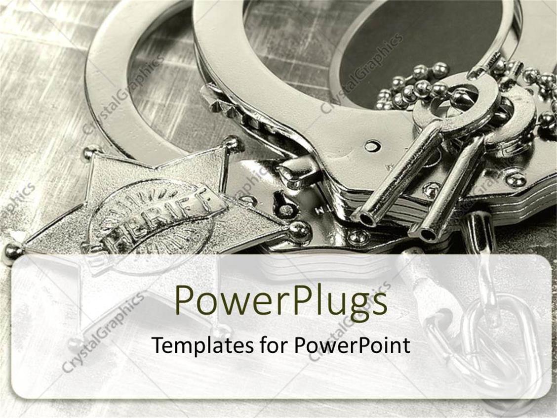 PowerPoint Template: Sharif Key locks (23648)