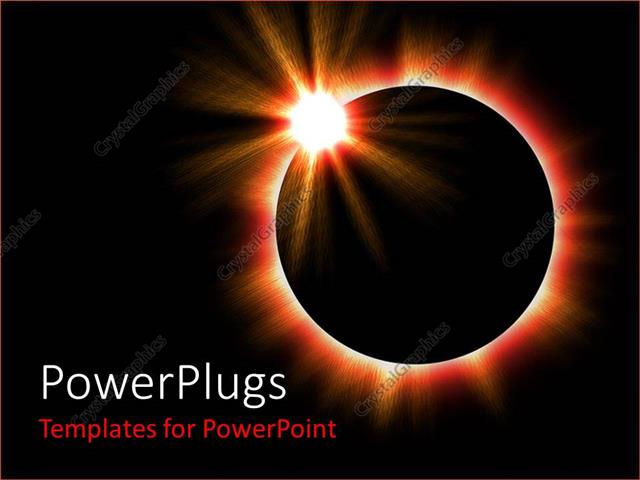 Powerpoint Template A Shot Of A Complete Solar Eclipse In Space 26749