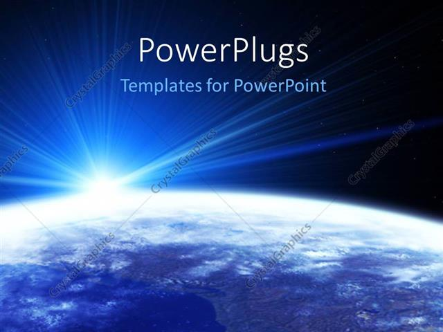 Powerpoint template sight of the earth from space with sun powerpoint template displaying sight of the earth from space with sun shining stars toneelgroepblik Images