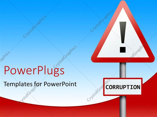 PowerPoint Template: a sign board with a text that spell out the ...