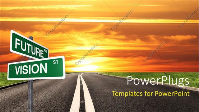 Powerpoint template signpost with future and vision keywords and powerpoint template displaying signpost with future and vision keywords and road to future in the toneelgroepblik Choice Image