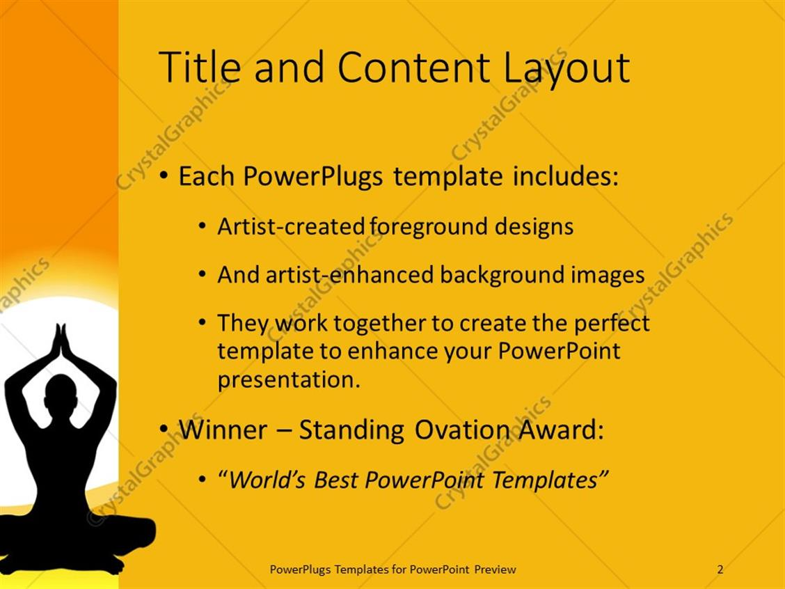 Powerpoint template a silhouette lady performing yoga over a sun powerpoint products templates secure toneelgroepblik