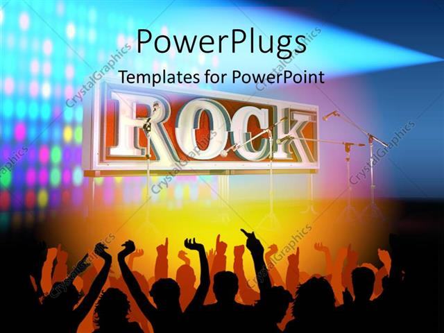 Powerpoint template silhouette of people partying and dancing to powerpoint template displaying silhouette of people partying and dancing to rock music toneelgroepblik Image collections
