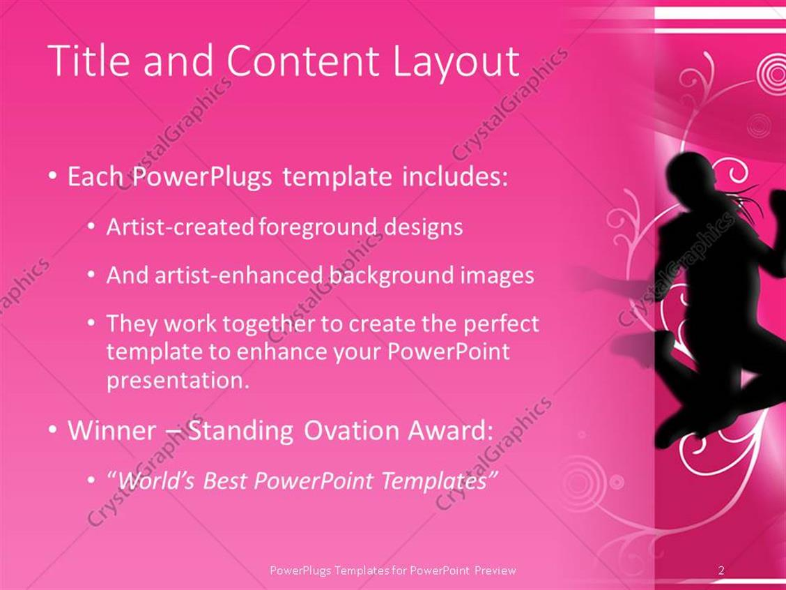 Powerpoint template silhouettes of people dancing and jumping on powerpoint products templates secure toneelgroepblik Choice Image