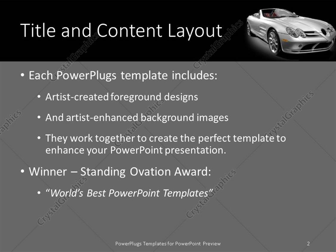 Powerpoint template a silver colored open roof luxury car on a powerpoint products templates secure toneelgroepblik Gallery