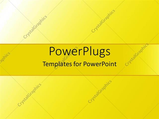 powerpoint template simple bold gradient yellow background with