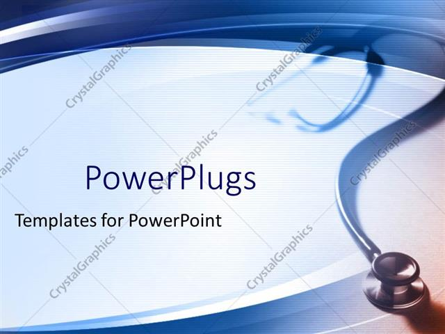 Powerpoint Template Simple Medical Theme With Stethoscope Fading In