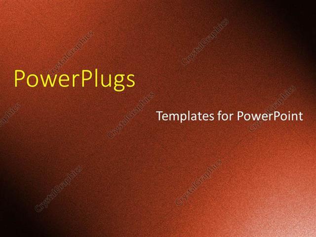 PowerPoint Template A Simple Rough Plain Chocolate Dark Brown