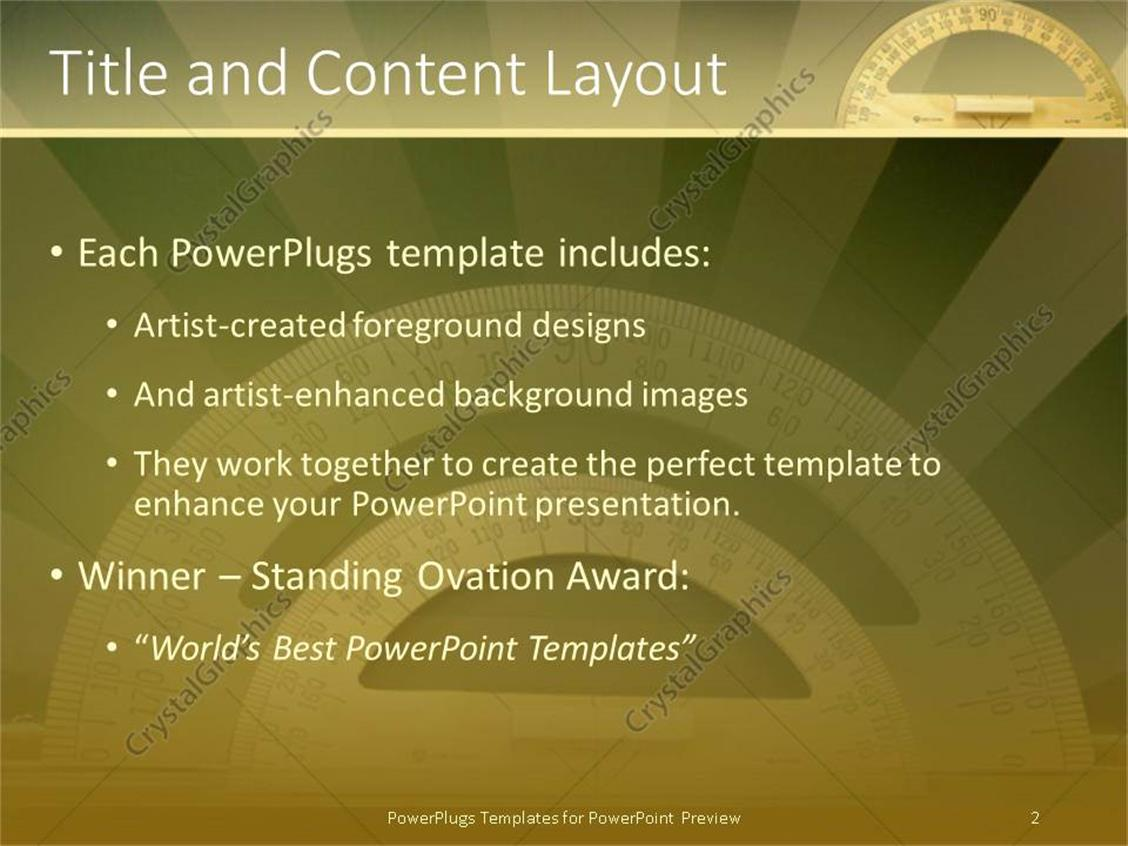 Powerpoint template small and huge wooden protractors in dark powerpoint products templates secure alramifo Gallery