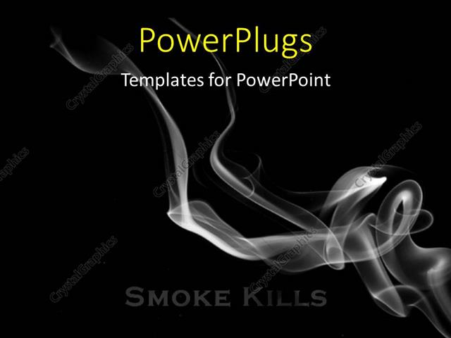 Powerpoint template smoke flowing over a black background smoking powerpoint template displaying smoke flowing over a black background smoking kills concept toneelgroepblik Choice Image